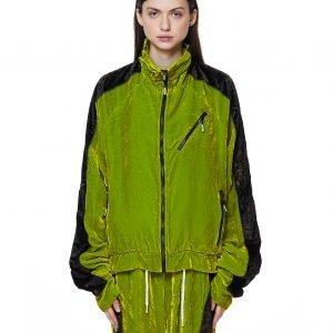99% IS- Green Velvet Track Jacket