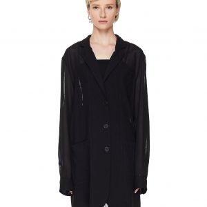 Ann Demeulemeester Transparent Wool Jacket