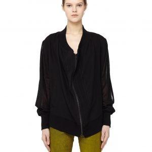 Ann Demeulemeester Vented sleeves oversized bomber jacket