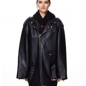 Balenciaga Black 80's Biker Jacket