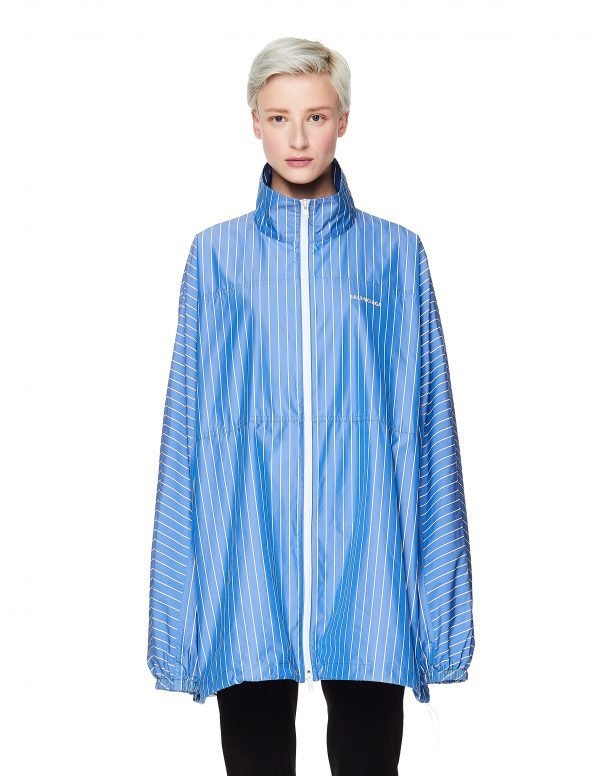Balenciaga Blue & White Striped Windbreaker