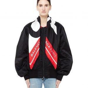 Balenciaga Bomber Jacket With Scarf Collar