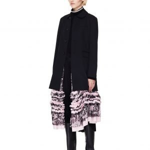 Comme des Garcons CdG Black Long Jacket With Pink Dress