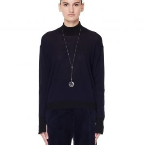 Golden Goose Navy Blue Wool Turtleneck