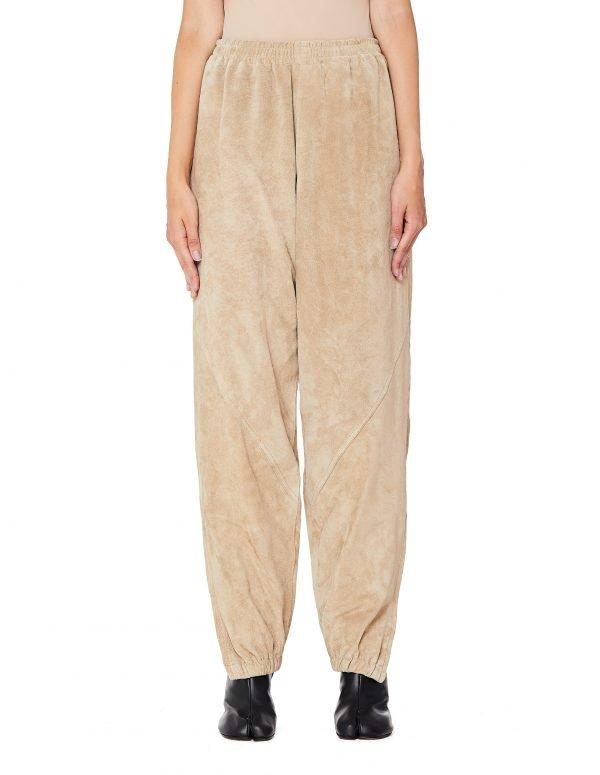 Hender Scheme Beige Leather Not Track Suit Pants