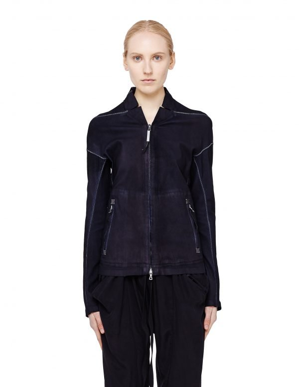 Isaac Sellam Leather Jacket with Seam Details