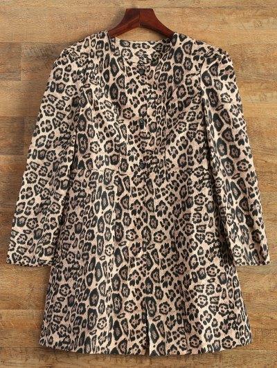 Leopard Print Skirted Coat