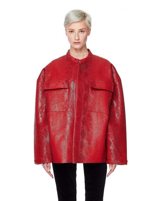 Maisie Wilen Red Textured Jacket