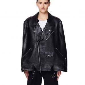 Maison Margiela Black Leather Biker Jacket