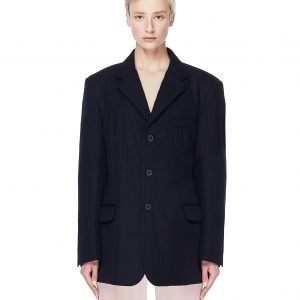 Maison Margiela Striped Padded Wool Jacket