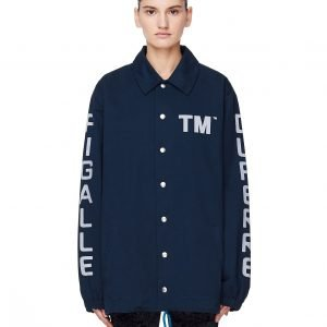 Pigalle Navy Blue Cotton TM Coach Jacket