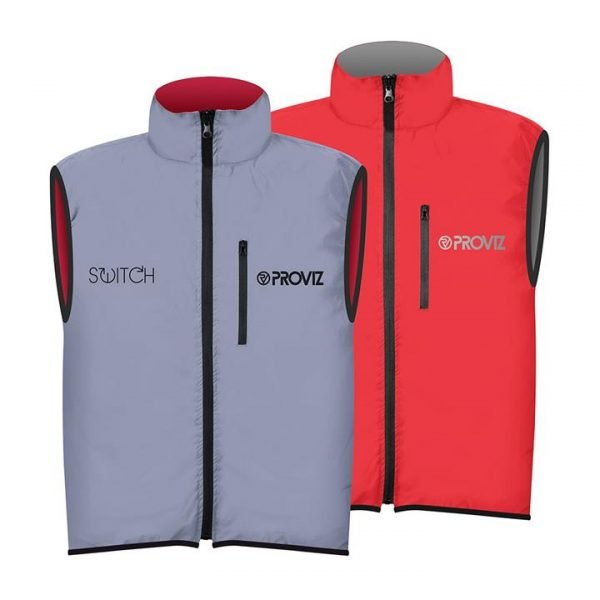 Proviz NEW: Switch Men's Cycling Gilet - Red / Reflective