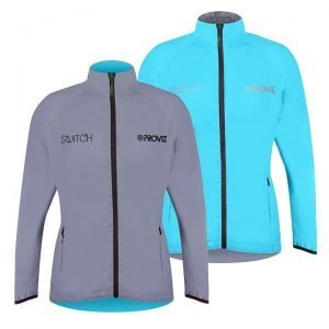 Proviz NEW: Switch Women's Cycling Jacket – Light Blue / Reflective