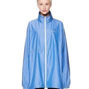 Balenciaga Blue & White Striped Windbreaker