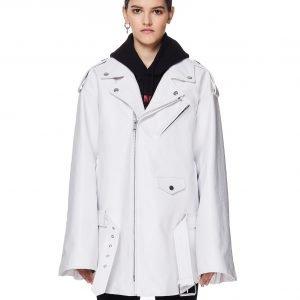 Balenciaga White 80's Biker Jacket