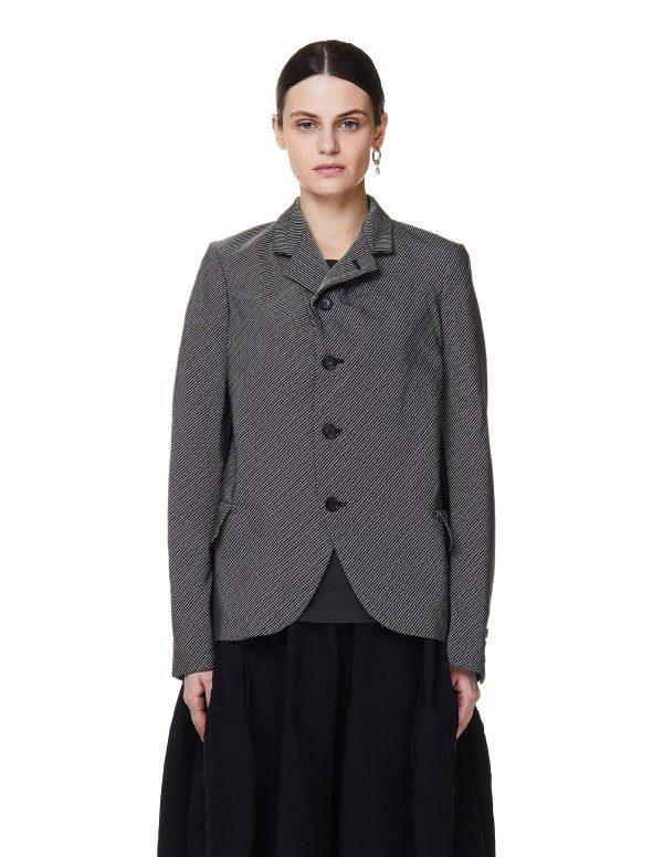 Comme des Garcons CdG Grey Striped Jacket