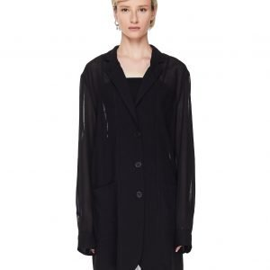 Ann Demeulemeester Transparent Wool Jacket
