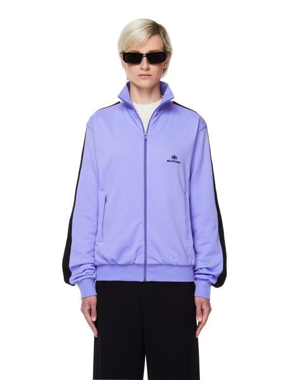 Balenciaga Purple Logo Track Jacket