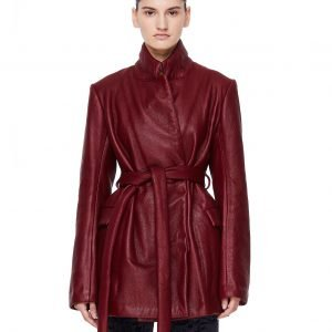 Isaac Sellam Reguliere Burgundy Jacket with Belt