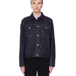 Junya Watanabe Blue Denim Cropped Jacket