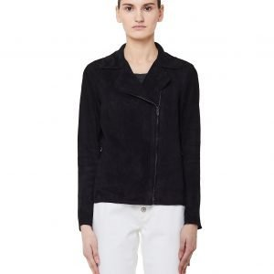 Salvatore Santoro Black Leather Biker Jacket