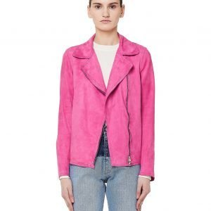 Salvatore Santoro Pink Leather Biker Jacket